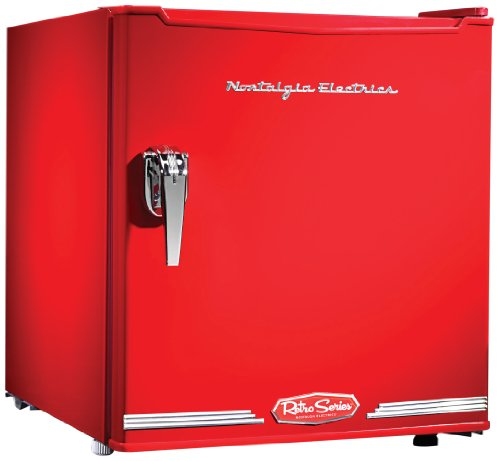 Nostalgia Electrics CRF170RETRORED Retro Series Mini Fridge, 1.7 Cubic Feet