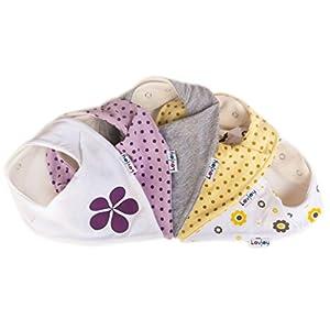 Lovjoy Baberos del bebé - Paquete de 5 Diseños para niña (Alegre y desenfadado) en BebeHogar.com