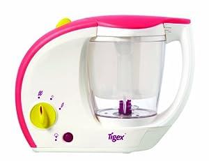 Tigex Bebé Gourmet - Cocedor a vapor/batidor, color blanco marca Tigex - BebeHogar.com