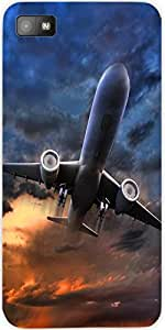 Snoogg Airliner Take Off Illustration Designer Protective Back Case Cover For...