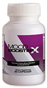 Mood Booster X - Natural Stress and Anxiety Relief / Reduction Supplement with Calming and Antidepressant Effect - Promotes Positive Mood, Relaxation and Focus with 5-HTP, GABA, Herbal Extracts, Vitamins, Minerals and Amino Acids - 60 Capsules / Pills