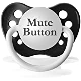 Personalized Mute Button Pacifier Paci Binky (Black)