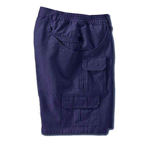 Woolrich Elite Men's 4905 Cotton Cargo Shorts Navy Blue Size 30W Woolrich Canvas Shorts