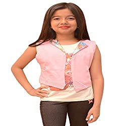 Titrit Pink top with jacket stiched