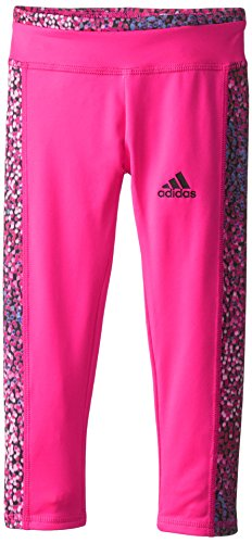 adidas Little Girls' Pike Tight, Pink Glo, 6