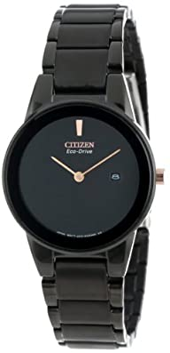 "Citizen Women's GA1055-57F  Eco-Drive ""Axiom"" Black Stainless Steel Watch"