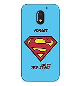 Happoz Motorola Moto E3 Power (3rd Generation) Cases Back Cover Mobile Pouches Shell Hard Plastic Graphic Armour Premium Printed Designer Cartoon Girl 3D Funky Fancy Slim Graffiti Imported Cute Colurful Stylish Boys D409