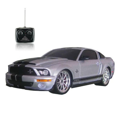 1:18 Licensed Shelby Mustang Gt500 Super Snake Electric Rtr Remote Control Rc Car (Silver)