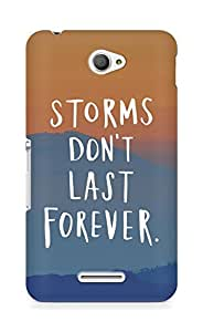 AMEZ storms dont last forever Back Cover For Sony Xperia E4