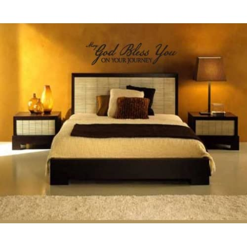 May God Bless You ON YOUR JOURNEYvinyl Decal Wall Sticker Mural