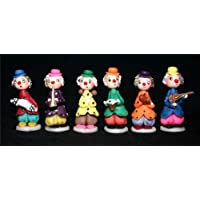 6 Piece Hand Carved Musicians Marzipan Figurine Art Set MF_MUSICIANS_001