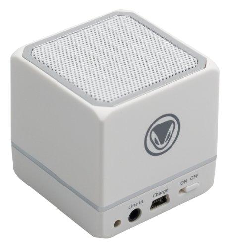 Sunflex snakebyte audio:cube Portabler Bluetooth Lautsprecher mit Akku für PC/Smartphone/Tablet weiß