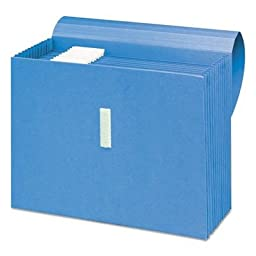 Smead Products - Smead - Antimicrobial Expanding File, 12 Pockets, Letter, Blue - Sold As 1 Each - Treated to resist the growth of bacteria, mold and mildew. - 7/8\