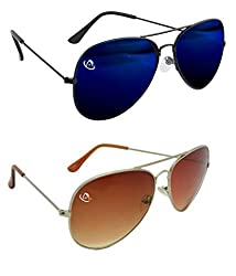 Aventus Combo of Mirrored Blue & Summer Red Aviators Unisex COMS03S05