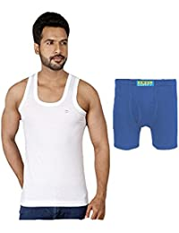 Combo Of 6 Pieces Amul Comfy Long Trunk 3 Piece And Amul Gold Sleeveless Vest 3 Piece