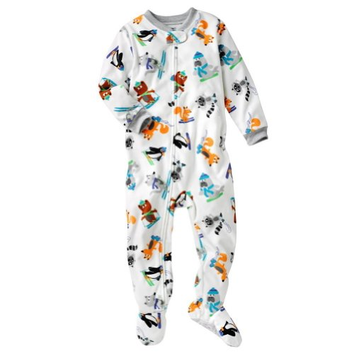 Carter's Skiing and Snowboarding Animal Fleece Sleeper Footed Pajama (24 Months)