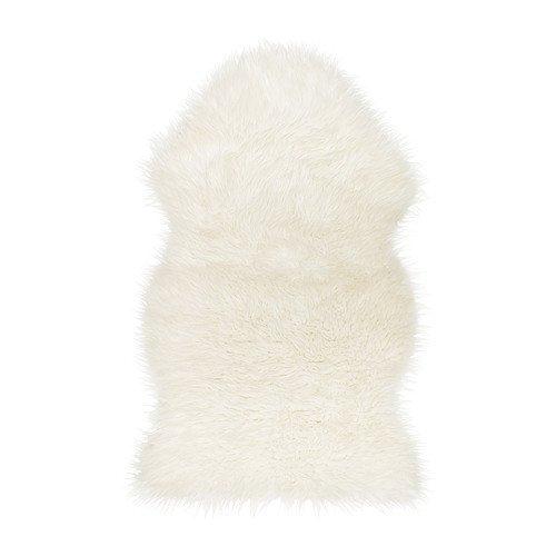 Ikea Tejn Faux Sheepskin, White