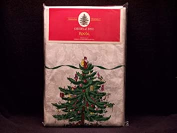#!Cheap Spode Christmas Tree Fabric Tablecloth