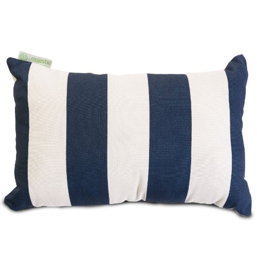 Majestic Home Goods Vertical Stripe Pillow, Small, Navy Blue front-87607