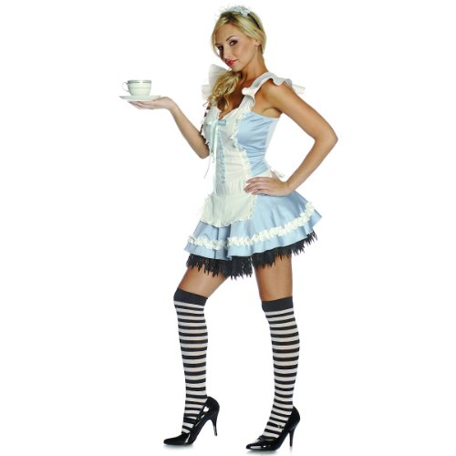 Alluring Alice in Wonderland Costume - Large - Dress Size 10-14