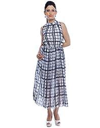 Designeez Multicolor Chiffon Maxi Dress