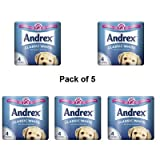 Andrex Toilet Tissue White, 4 Rolls Pack of 5 - 010229 x 5 - packaging may vary