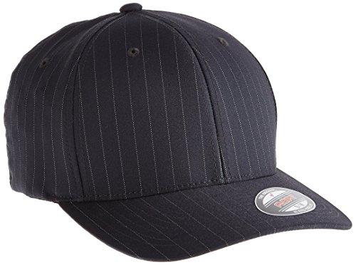 Flexfit - Cappello snapback, da adulto, modello gessato, Multicolore (Darkgrey/Wht), S/M