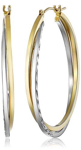 14k-Gold-Bonded-Sterling-Silver-Hoop-Earrings