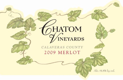 2009 Chatom Vineyards Calaveras County Merlot 750 Ml