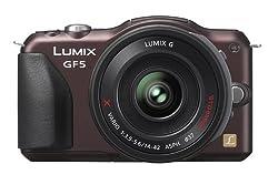 Panasonic ルミックス デジタル一眼カメラ/レンズキット(14-42mm/F3.5-5.6電動ズームレンズ付属) フルハイビジョンムービー一眼 センシュアルブラウン DMC-GF5X-T