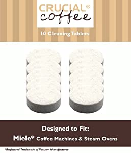 10 Miele Coffee Machines & Steam Ovens Cleaning Tablets Designed For Use In Miele Coffee Machines & Steam Ovens; Compare To Miele Tablet Part # 05626080, 07616440; Designed Exclusively For Crucial Vacuum from Crucial Vacuum