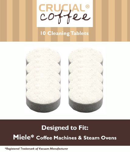 10 Miele Coffee Machines & Steam Ovens Cleaning Tablets Designed For Use In Miele Coffee Machines & Steam Ovens; Compare To Miele Tablet Part # 05626080, 07616440; Designed Exclusively For Crucial Vacuum