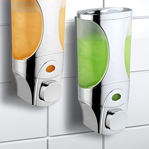 Hotelspa Curves Luxury Soap/Shampoo/Lotion Modular-design Shower Dispenser System (Pack of 2) (Shower Modular compare prices)