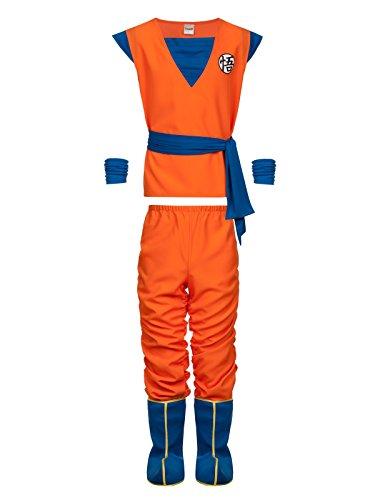 Dragon Ball Z Son Goku Costume Costume arancione/blu S