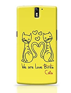 PosterGuy OnePlus One Case Cover - Love cats | Designed by: Stuti Bajaj