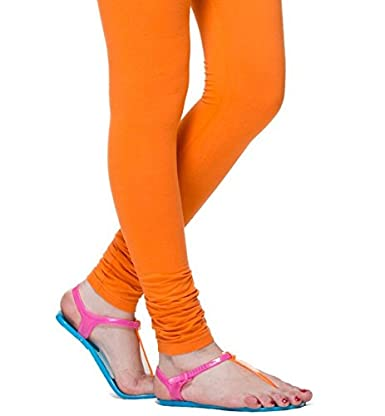 1b0b7884c5f Colors Cotton Leggings Orange available at Amazon for Rs.279