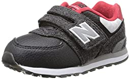 New Balance KG574I Deep Freeze Pack Classic Running Shoe (Infant/Toddler), Black/Red, 3 M US Infant