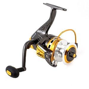 Como 4.7:1 Gear Ratio 6 Ball Bearing Fishing Spinning Reel Dark Gray Gold Tone from Como