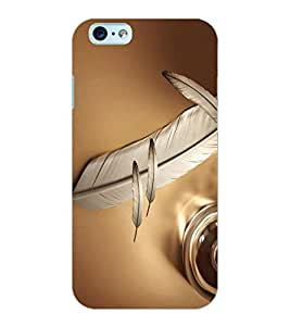 ColourCraft Lovely Feather Design Back Case Cover for APPLE IPHONE 6