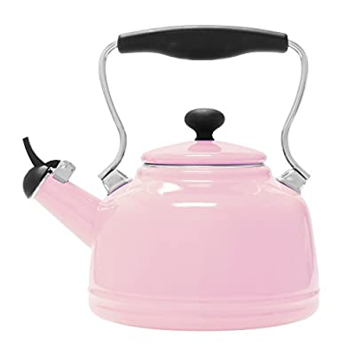 Chantal Enamel on Steel Vintage Teakettle ( 2 Qt.) Pink