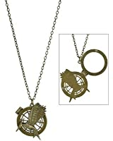 The Hunger Games Catching Fire Secret Quote Single Chain Necklace Open to Reveal Quote