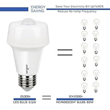Sengled Smartsense LED Bulb, Motion Sensor Light Bulb, Sensor Detector Mode/ Always-On Mode, Omnidirectional, 9.5 Watts, 2700 Kelvins, 800 Lumens, E26 Base, Soft White, A19 (1 Pack)