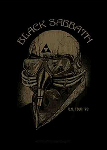 Black Sabbath US Tour 78 Official Tessile Nero Bandiera poster 75 cm x 110 cm