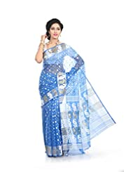 Crochetin Cotton Silk Handmade Jamdani Saree - B00U12YKNA