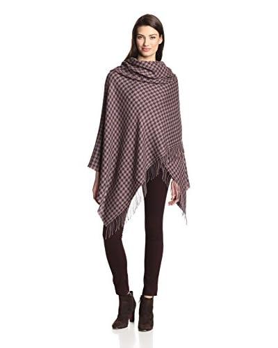 Alicia Adams Women's Wool Wrap, Taupe/Purple