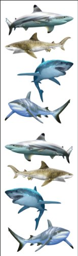Mrs. Grossman's Stickers-Shark World - 1