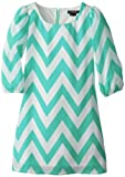 My Michelle Girls 7-16 Chevron Sheath Dress, Mint, 16