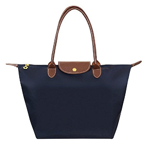 Generic Women's Stylish Waterproof Tote Shoulder Bag (medium, dark blue)