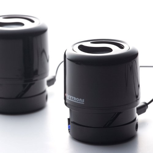 Lifetrons DrumBass II Extendable Rechargeable Speaker Black Ivory Stereo Edition For iPod, iPhone 4GS, Ipad  &  MP3 Players