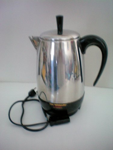 """Farberware Fcp 280 Superfast Fully Automatic Electric Percolator -- Approx. 10"""" Tall -- Complete As Shown"""